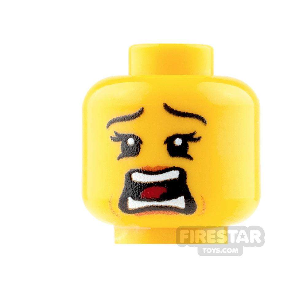 Custom Mini Figure Heads - Terrified - Female - Yellow