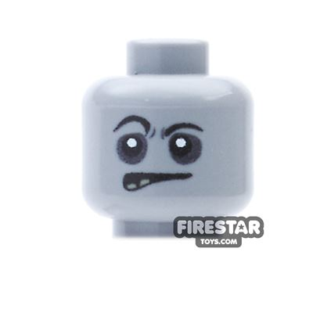 Custom Mini Figure Heads - Grumpy Zombie