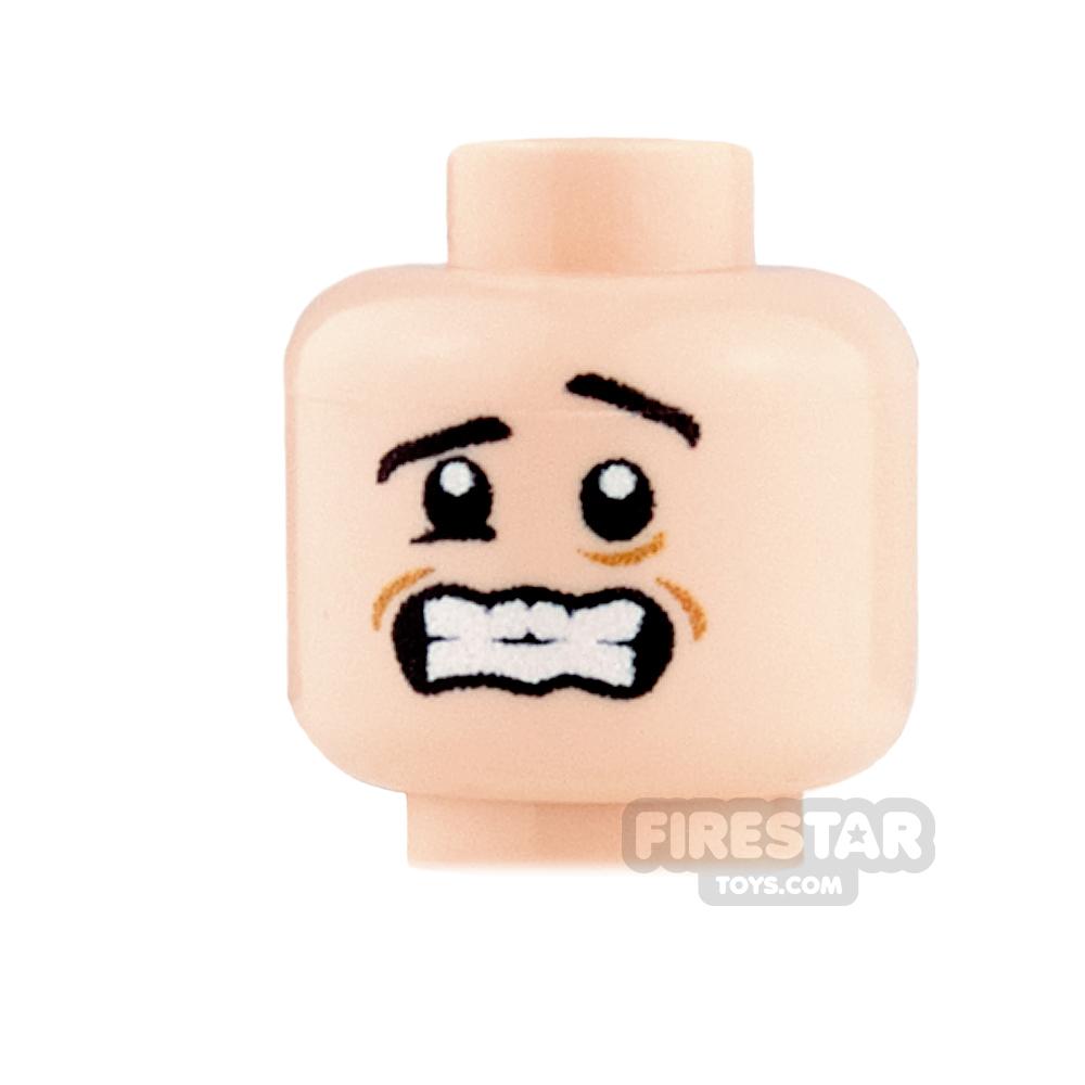 Custom Minifigure Heads - Shivering - Light Flesh