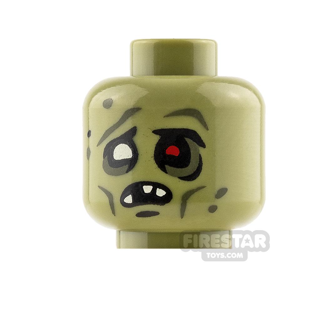 Brickarms Mini Figure Heads - Zombie