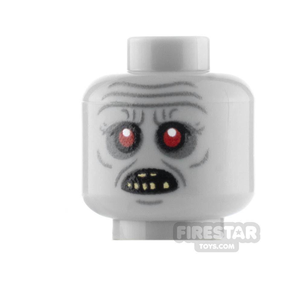 Custom Minifigure Heads Gormless Zombie