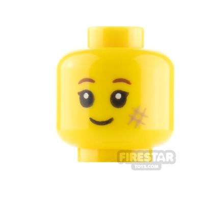 LEGO Minifigure Heads Cheek Smudge Smile and Grin