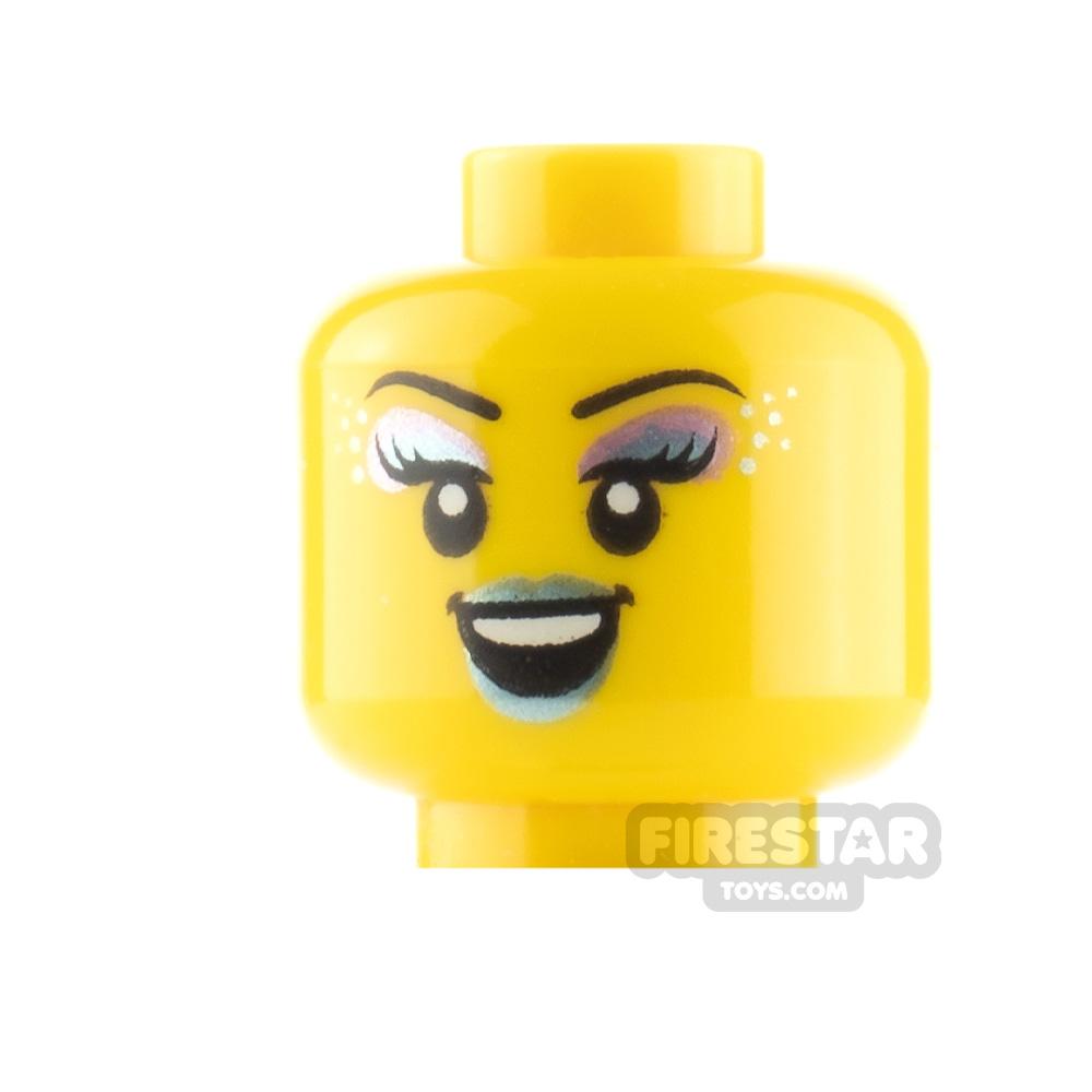 LEGO Minifigure Heads Shiny Eyeshadow Smile and Singing