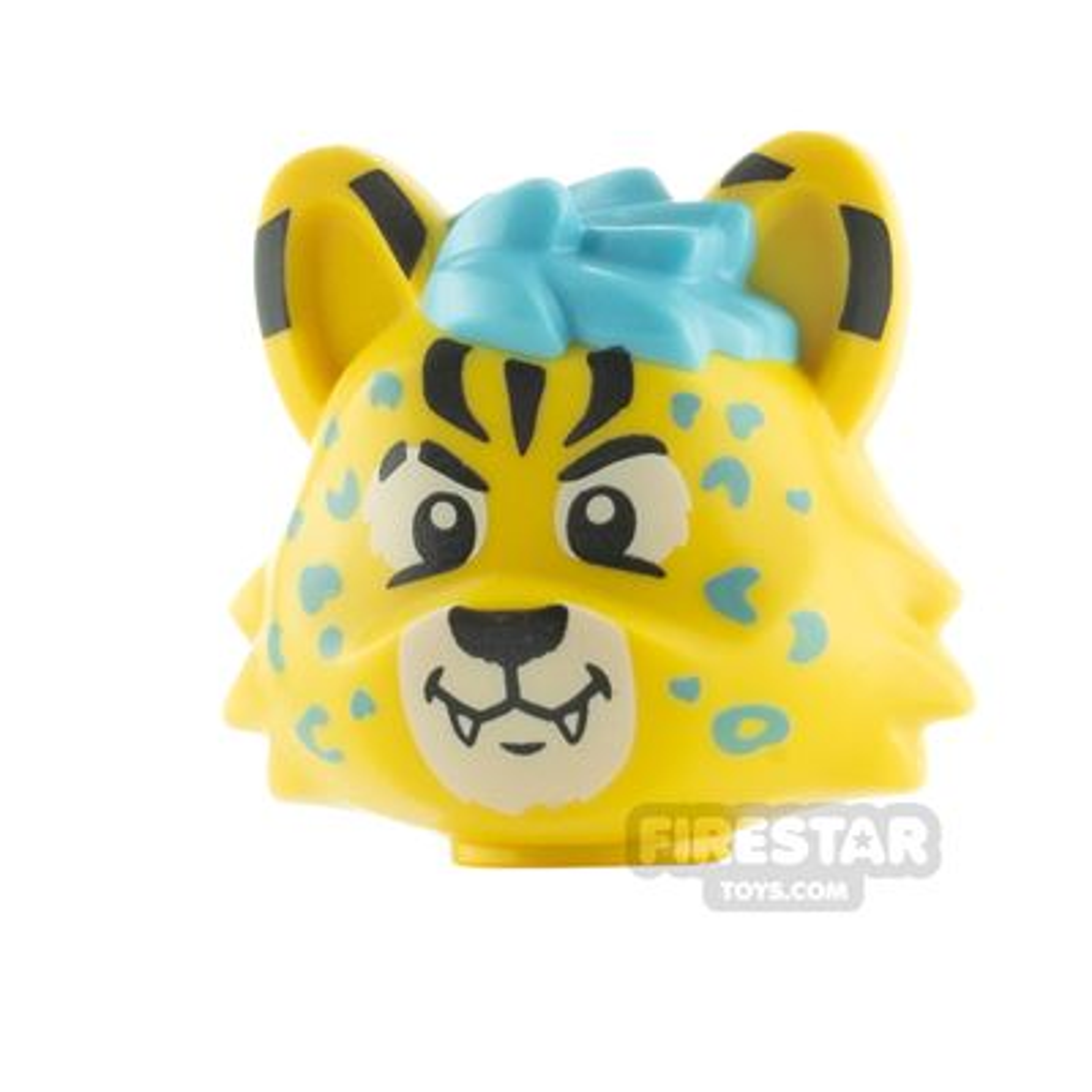 LEGO Minifigure Heads Cat with Medium Azure Hair