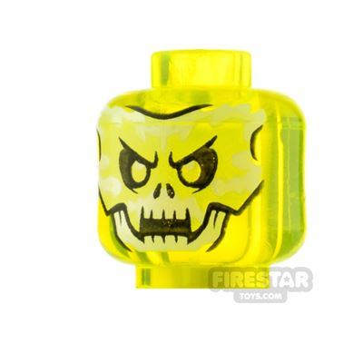 LEGO Minifigure Heads Skull Face and Fangs
