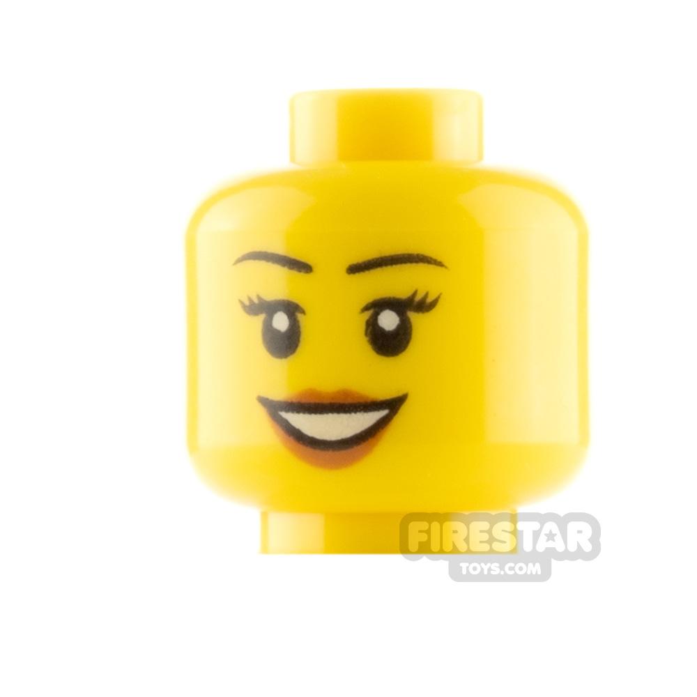 LEGO Mini Figure Heads - Smile - Peach Lips