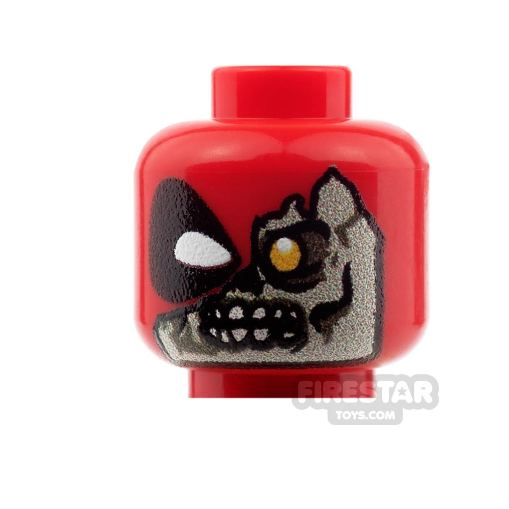 Custom Mini Figure Heads - Deadpool - Headpool Zombie