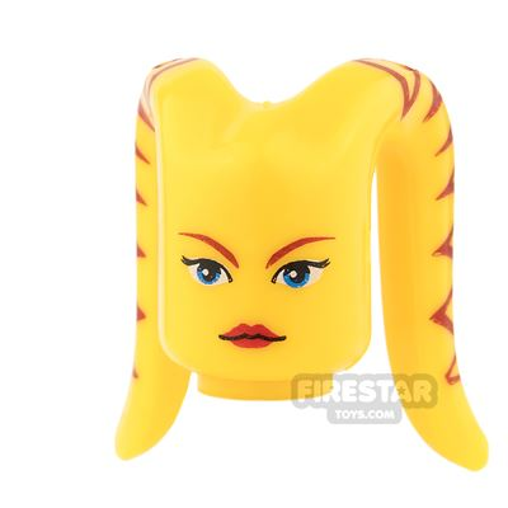 Arealight Mini Figure Heads - Ria - Yellow