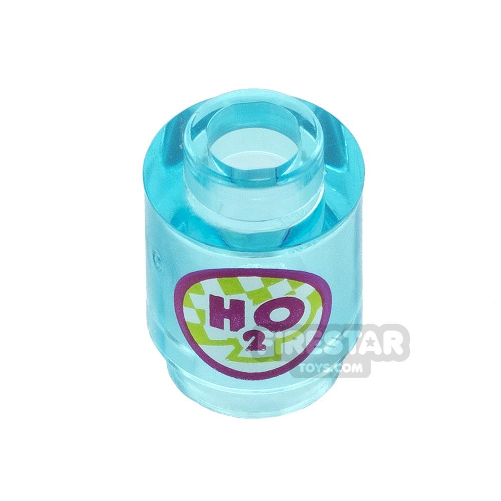 Printed Round Brick 1x1 H2O Bottle