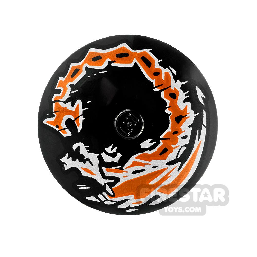 Printed Inverted Dish 4x4 Dragon