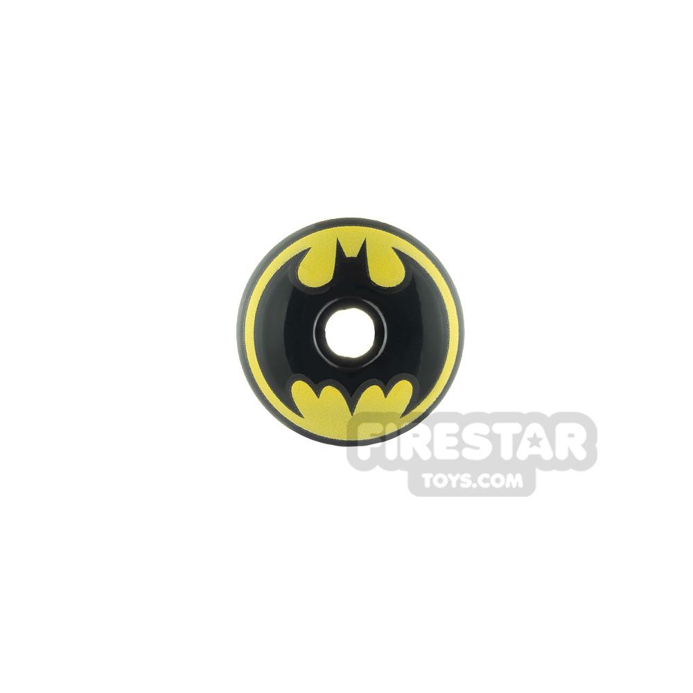 Printed Inverted Dish 2x2 Batman Logo