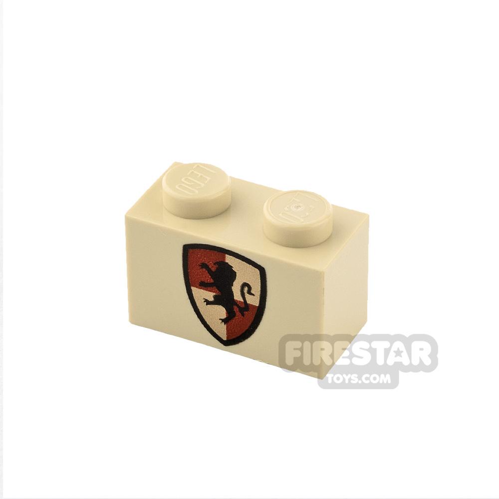 Printed Brick 1x2 HP Gryffindor Shield