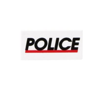 Printed Tile 1x2 Police