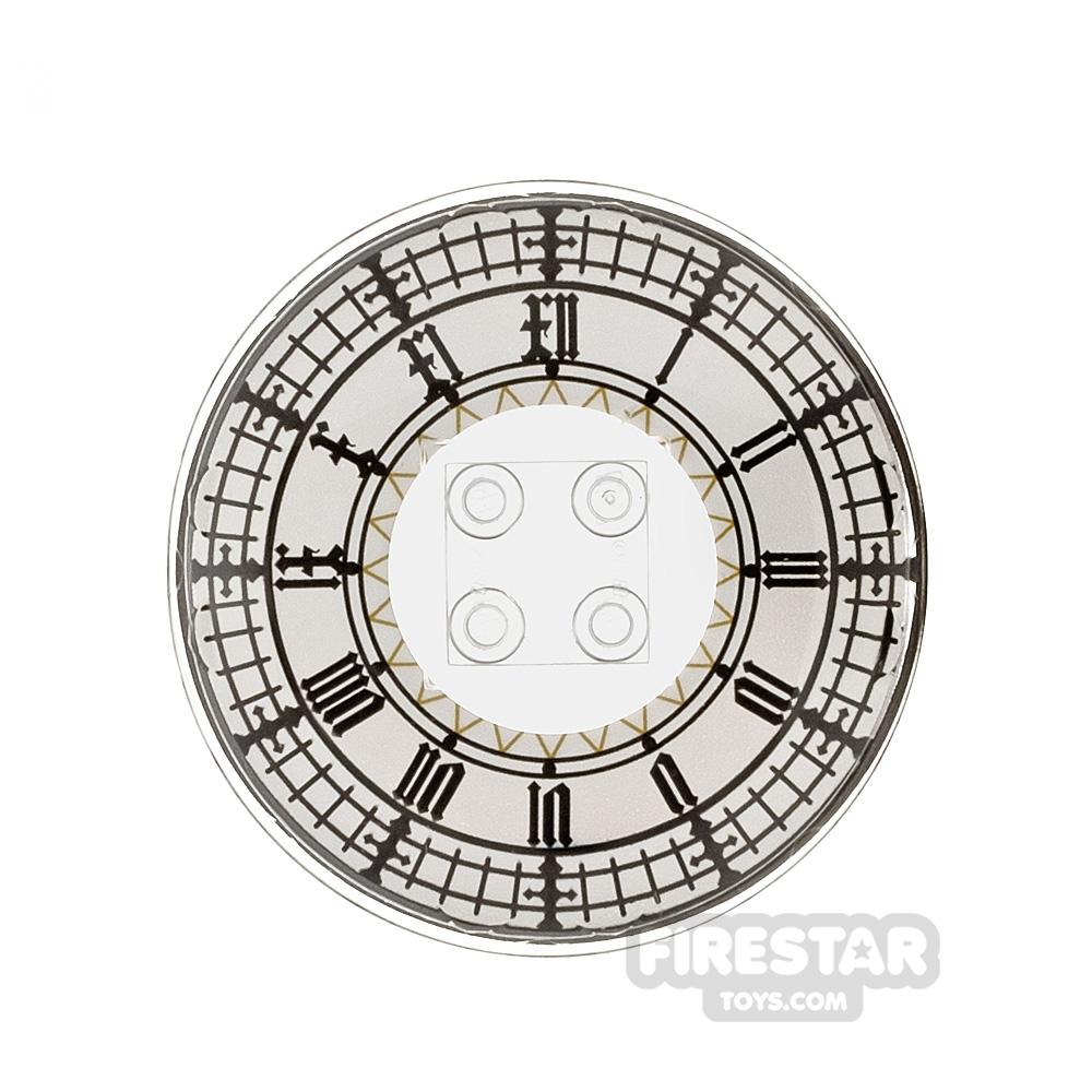 Printed Inverted Dish - 6x6 - Big Ben Clock Face