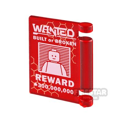 Printed Book Cover 2x2 Wanted Poster