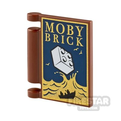 Printed Book Cover 2x2 Moby Brick