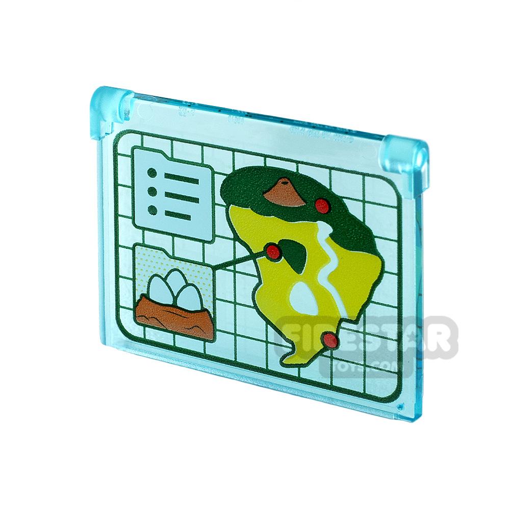 Printed Window Glass 1x4x3 JW Island Map