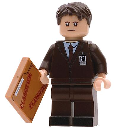 Custom Design Mini Figure - X-Files FBI Agent Sculder