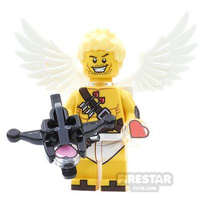 Custom Design Minifigure Cupid With Crossbow Firing Hearts