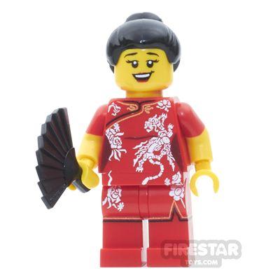 Custom Design Minifigure Chinese New Year Reveler