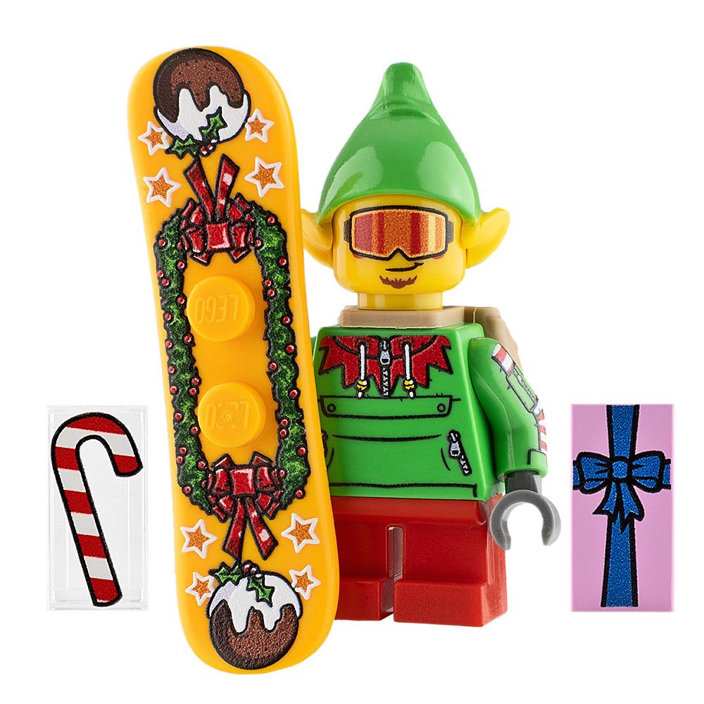 Custom Design Minifigure Halfpipe the Elf