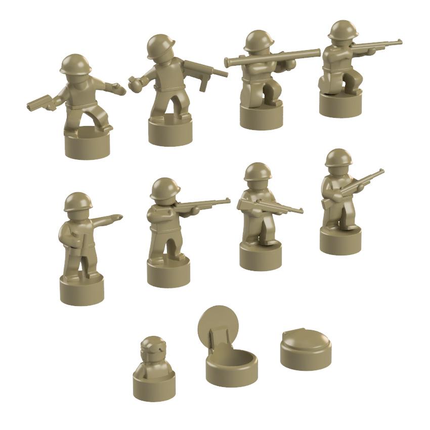 BrickMini Nano Soldiers - Dark Tan Set