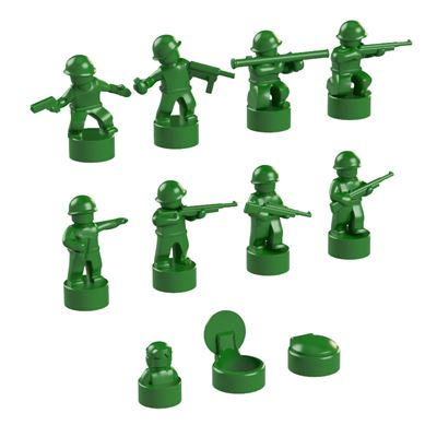 BrickMini Nano Soldiers - Green Set