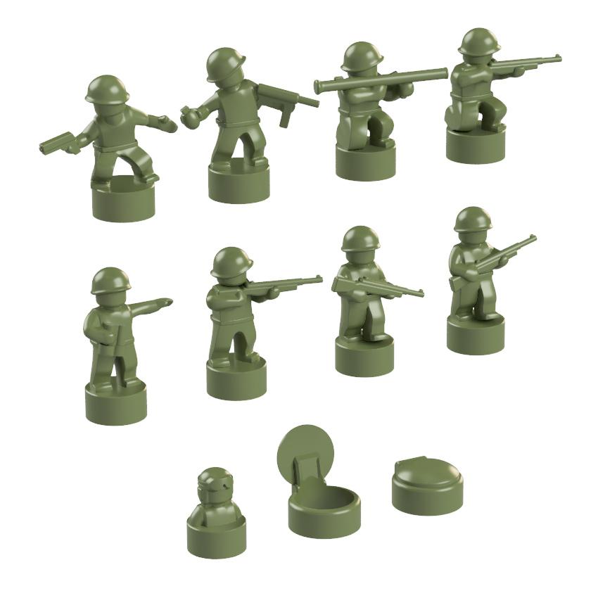 BrickMini Nano Soldiers - Olive Green Set