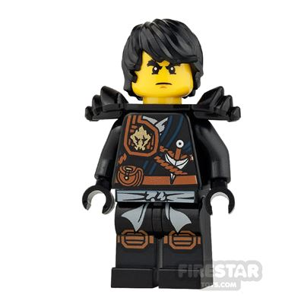 LEGO Ninjago Mini Figure - Cole - Knee Pads, Armour, Hair