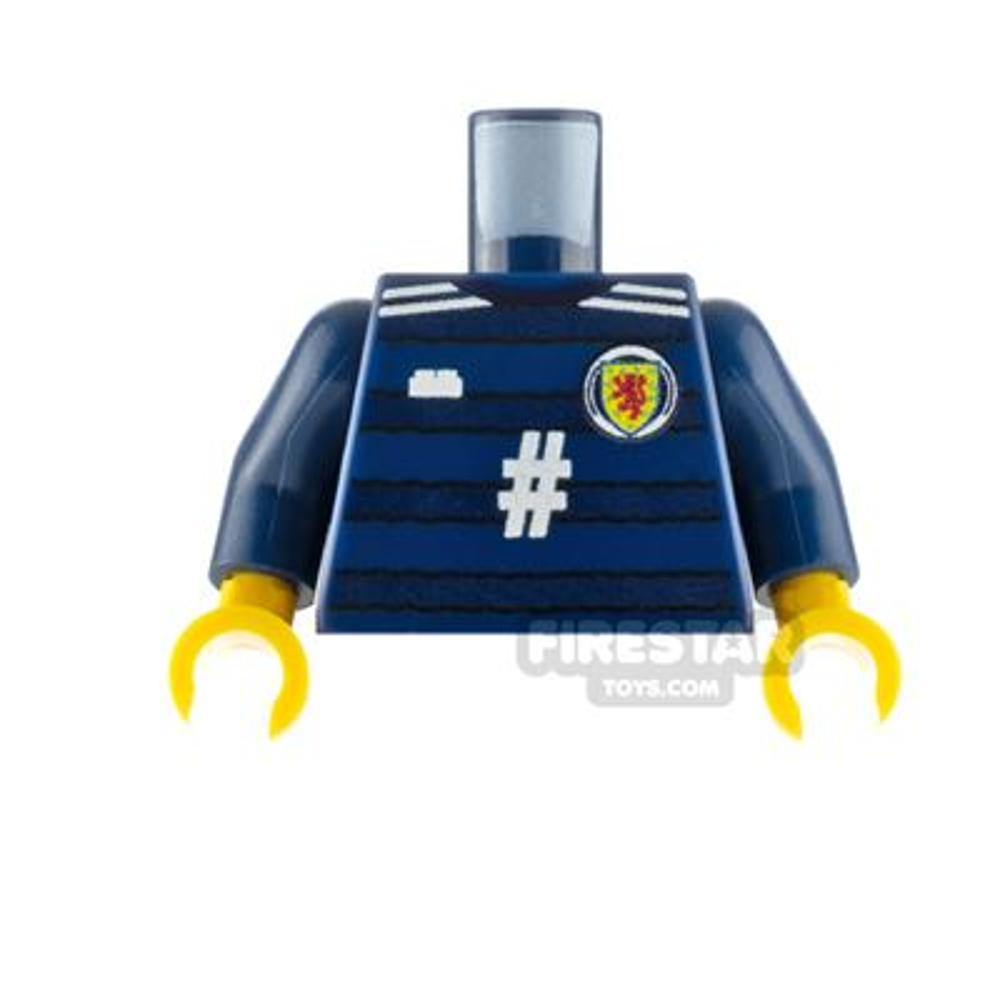 Custom Design Minifigure Torso Scotland Football Jersey