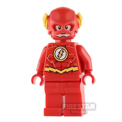 LEGO Super Heroes Mini Figure - The Flash - Yellow Outlines on Chest