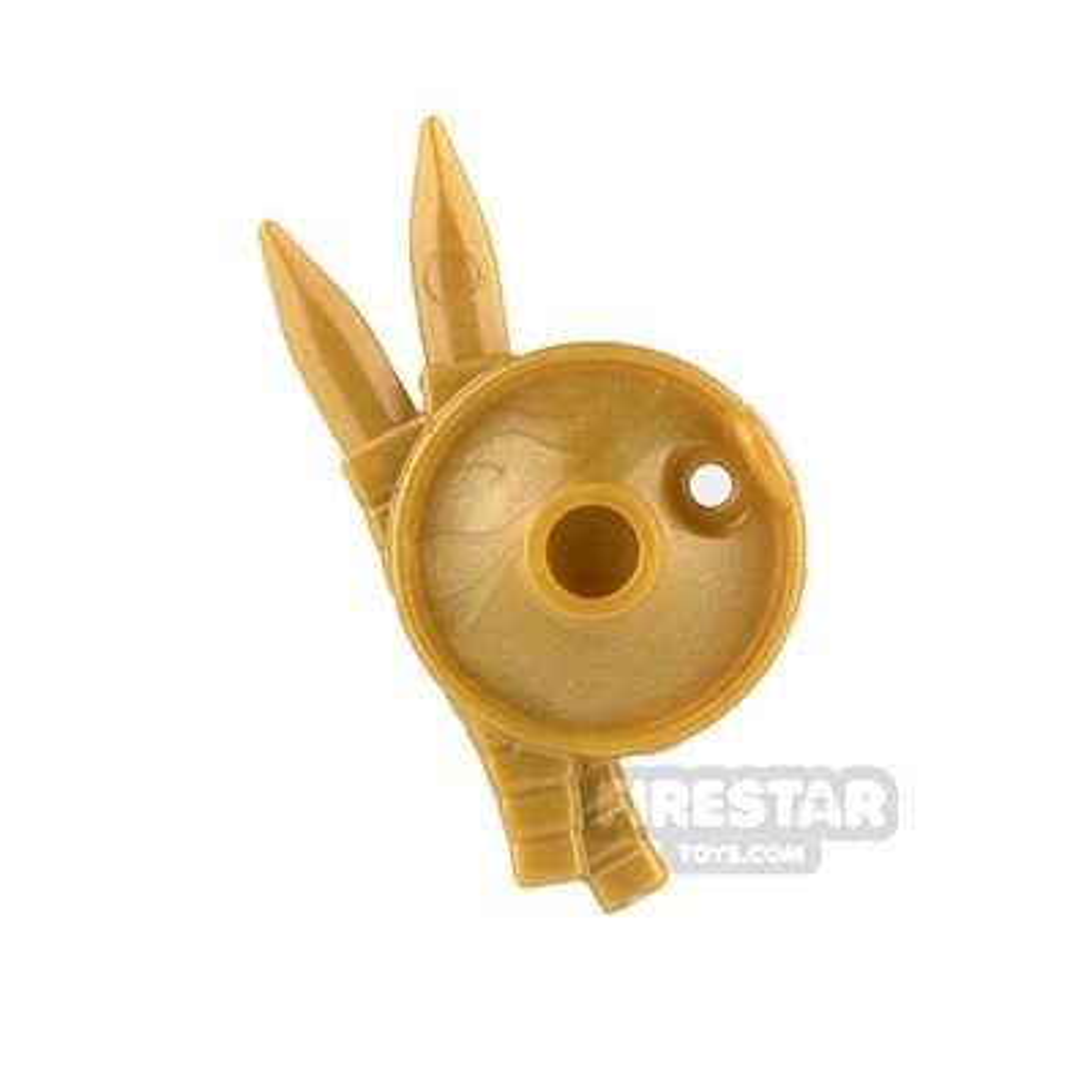 BrickWarriors - Lantern Shield - Pearl Gold