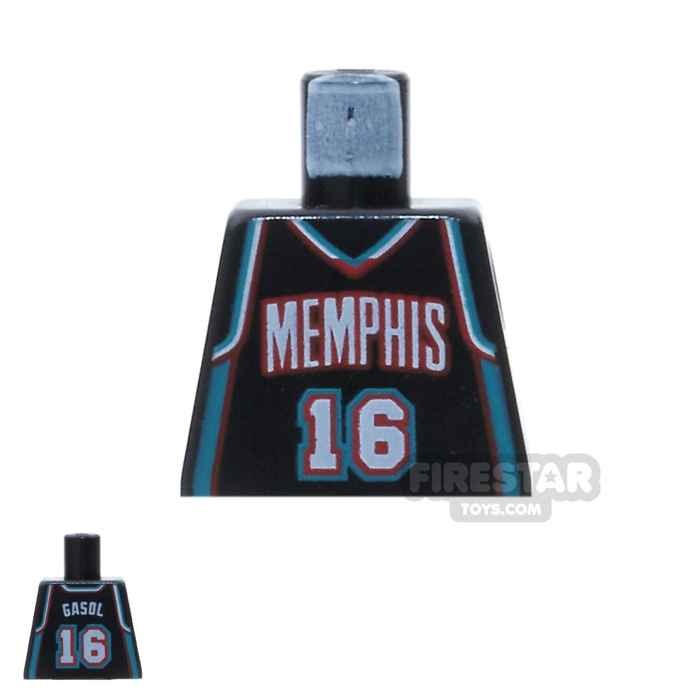 LEGO Mini Figure Torso - Memphis Logo - No Arms