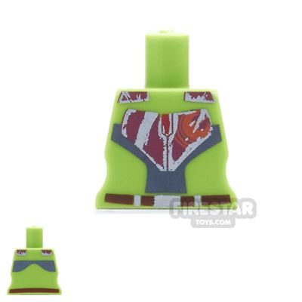 Arealight Mini Figure Torso - Rebel - Lime Green