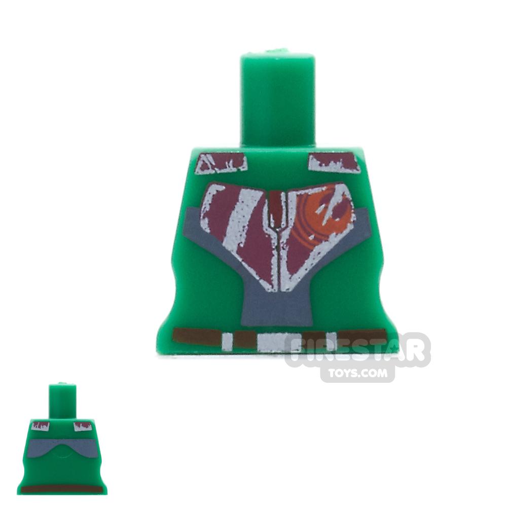 Arealight Mini Figure Torso - Rebel - Green