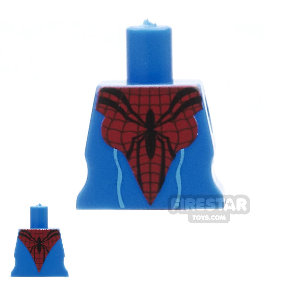 Arealight Mini Figure Torso - Arachne Dress - Blue and Red