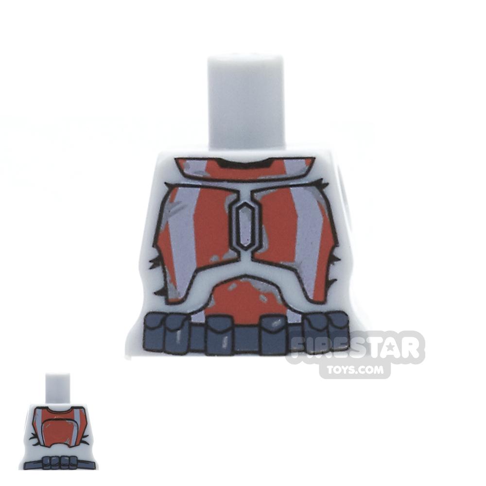 Arealight Mini Figure Torso - Gray with Dark Orange STK Suit