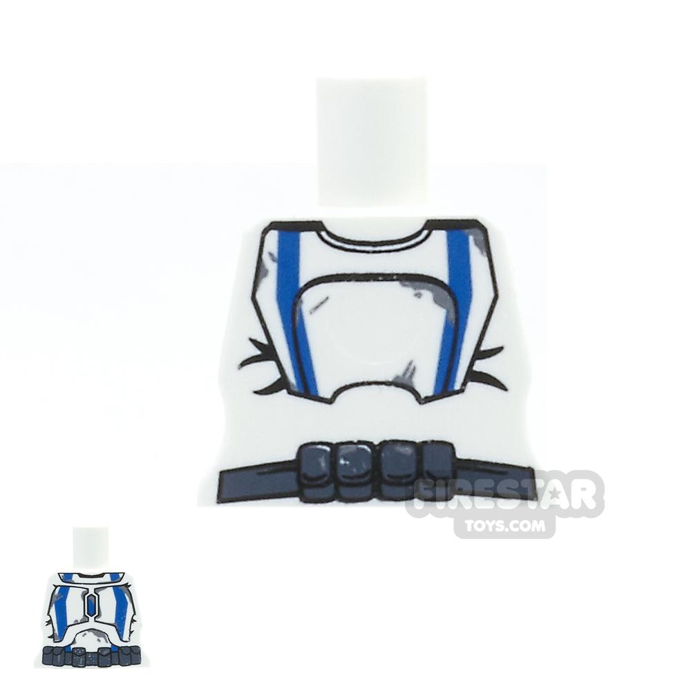 Arealight Mini Figure Torso - White with Blue STK Suit