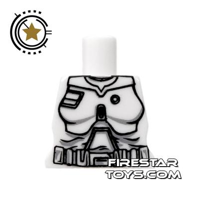 Arealight Mini Figure Torso - Battle Suit - White