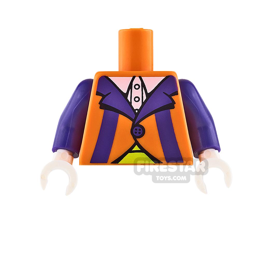 LEGO Mini Figure Torso - Clown - Orange and Purple