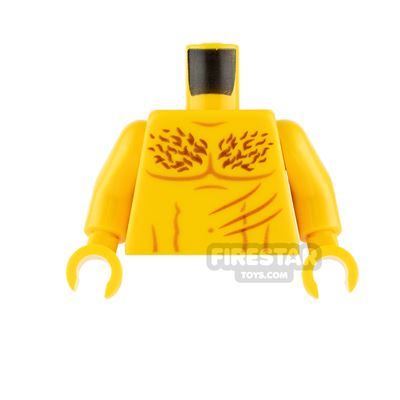 LEGO Minifigure Torso Bare Chest with Scratches