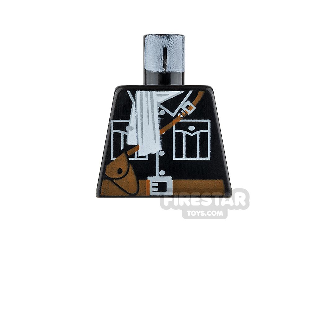 LEGO Mini Figure Torso - Jacket with White Scarf & Satchel - No Arms