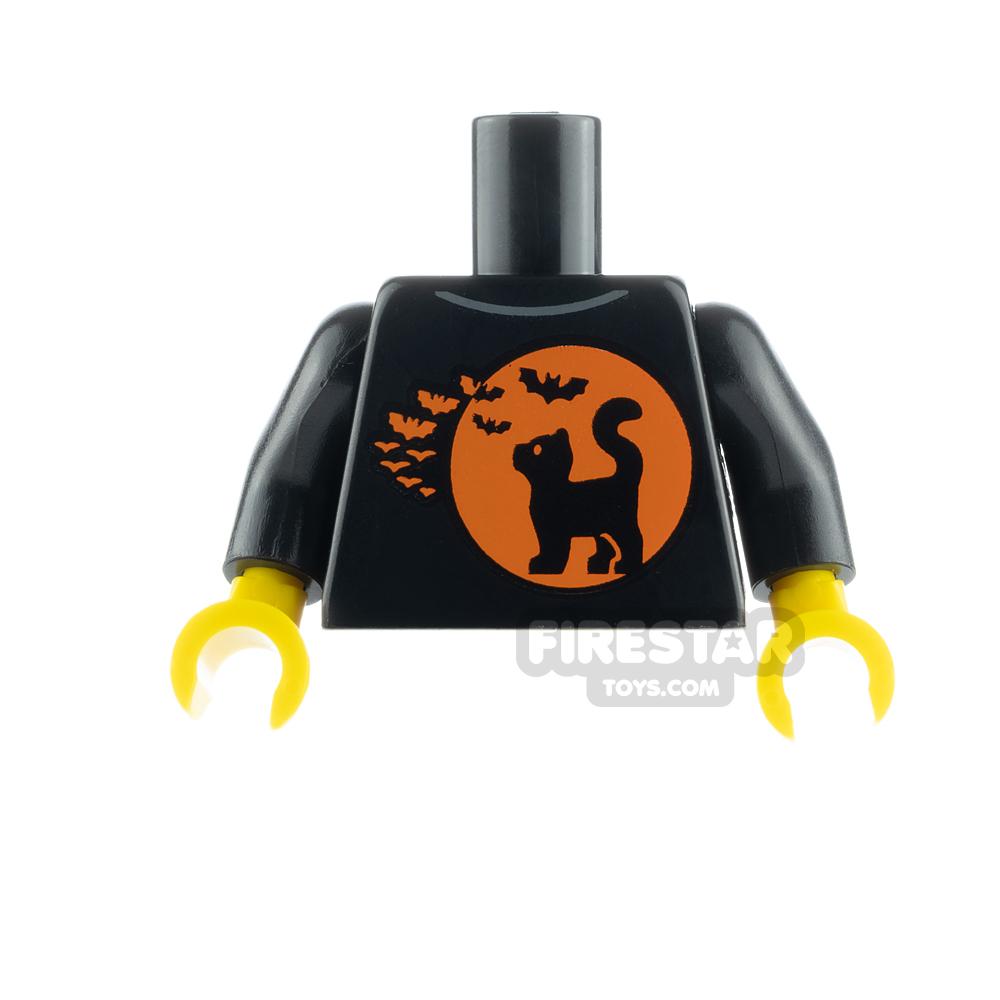 LEGO Minifigure Torso Cat, Moon and Bats