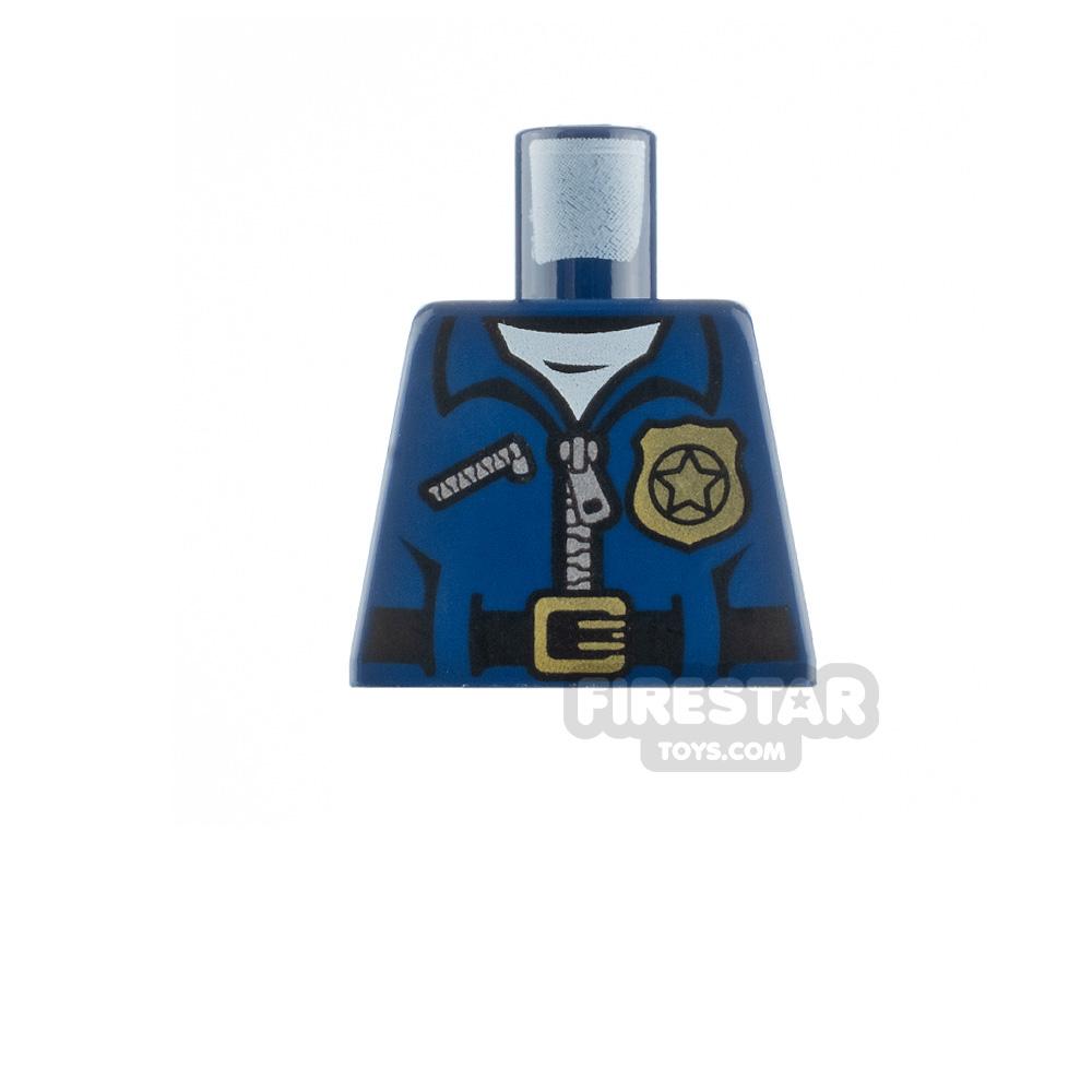 LEGO Minifigure Torso Police Uniform No Arms