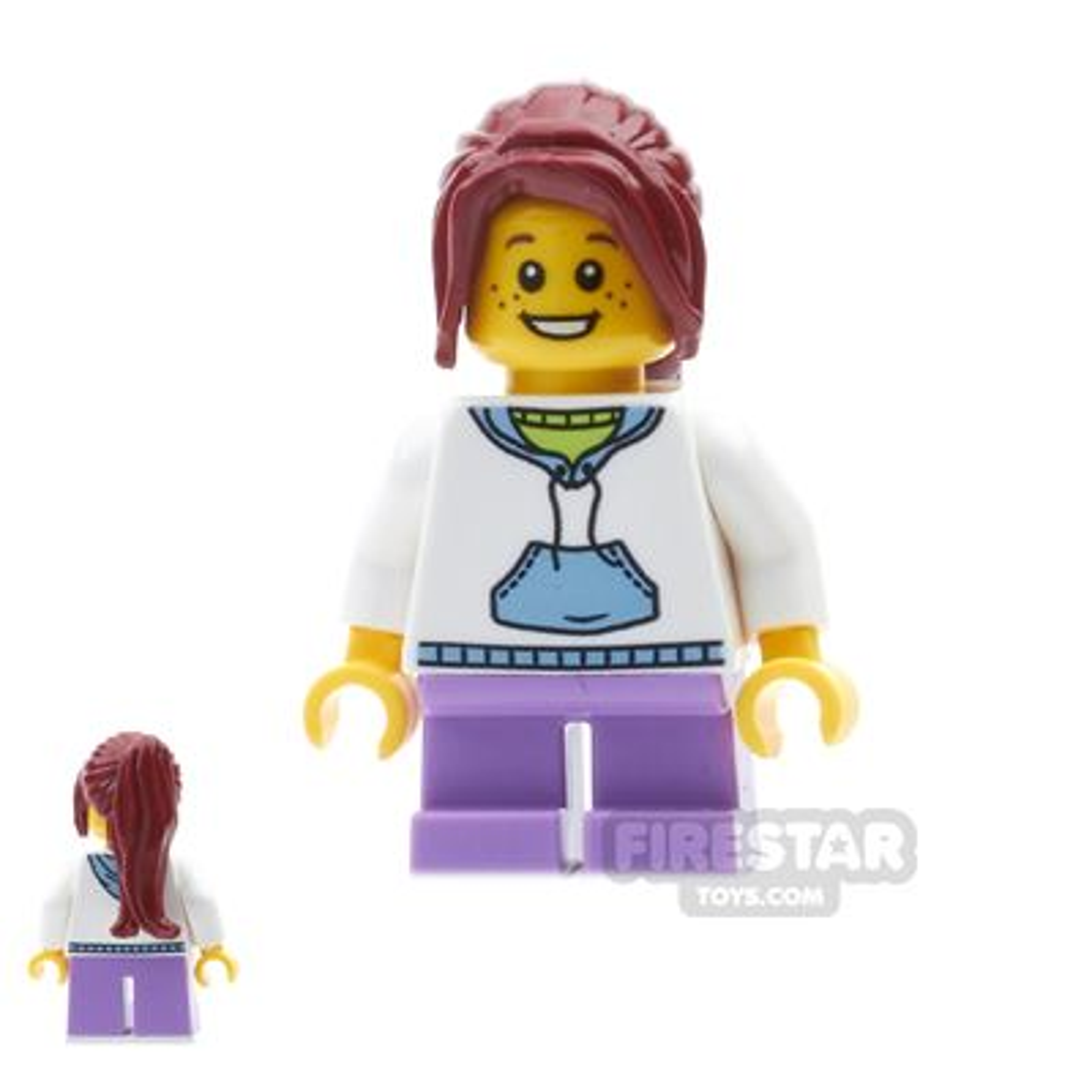 LEGO City Mini Figure - White Hoodie and Ponytail