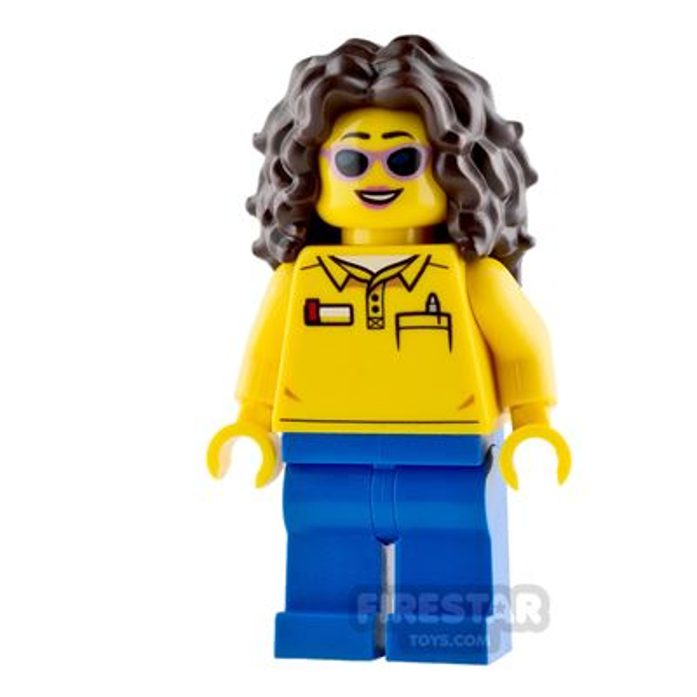 LEGO City Mini Figure - Coaster Operator - Female
