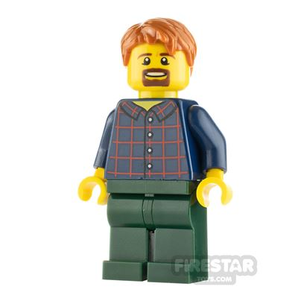 LEGO City Man with Plaid Button Shirt