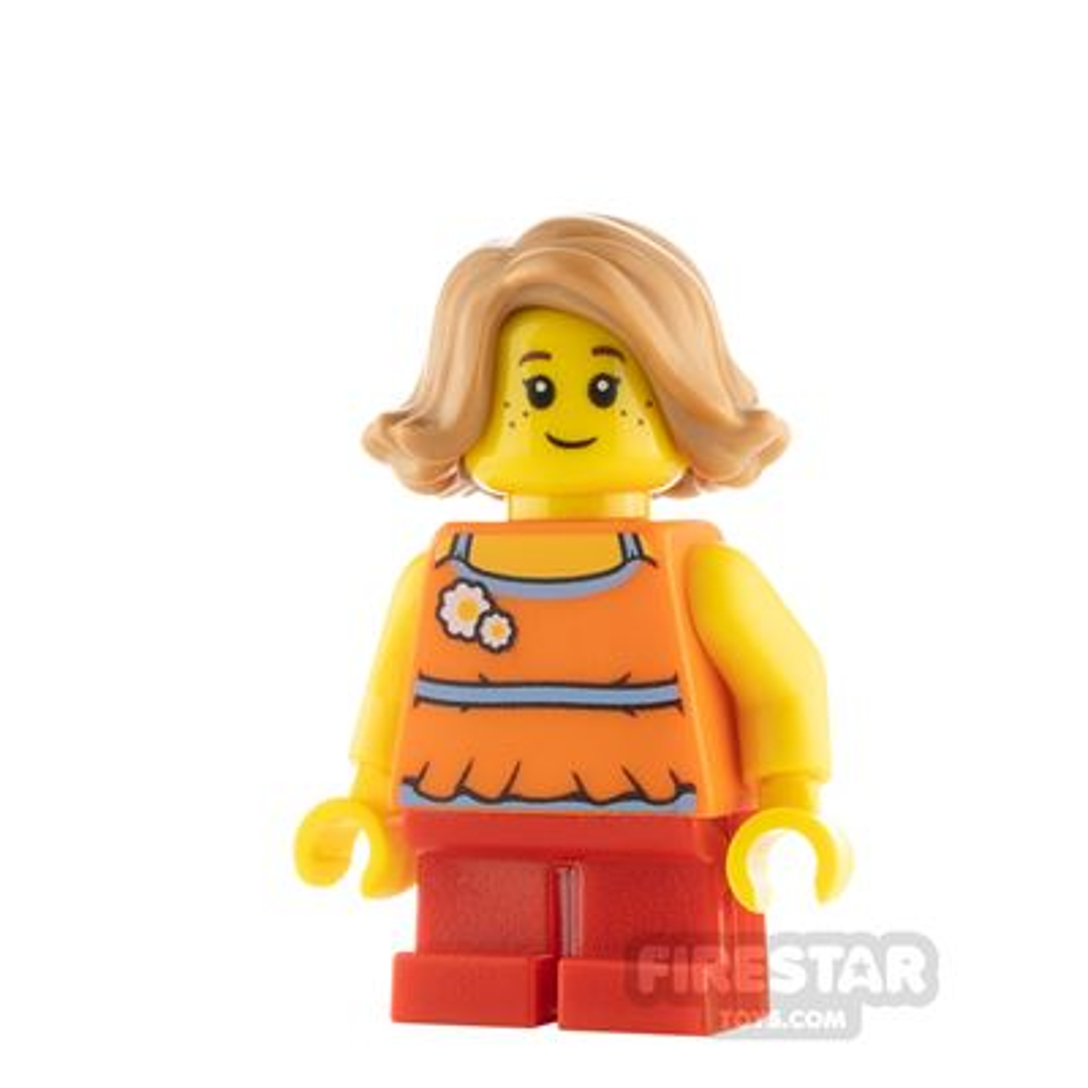 LEGO City Girl with Orange Flower Top