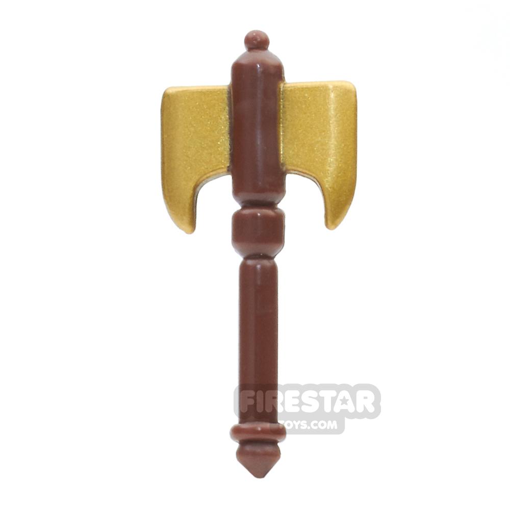 BrickForge - Battle Axe - Gold Blade Brown Handle