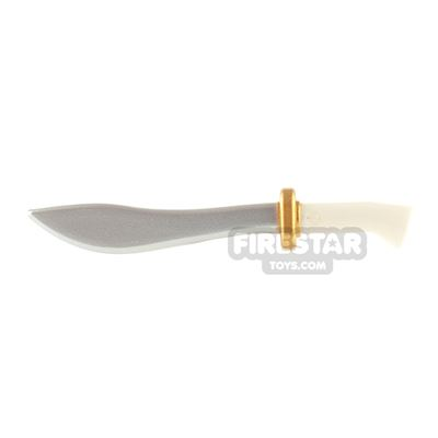 Minifigure Weapon Sword with Curved Blade